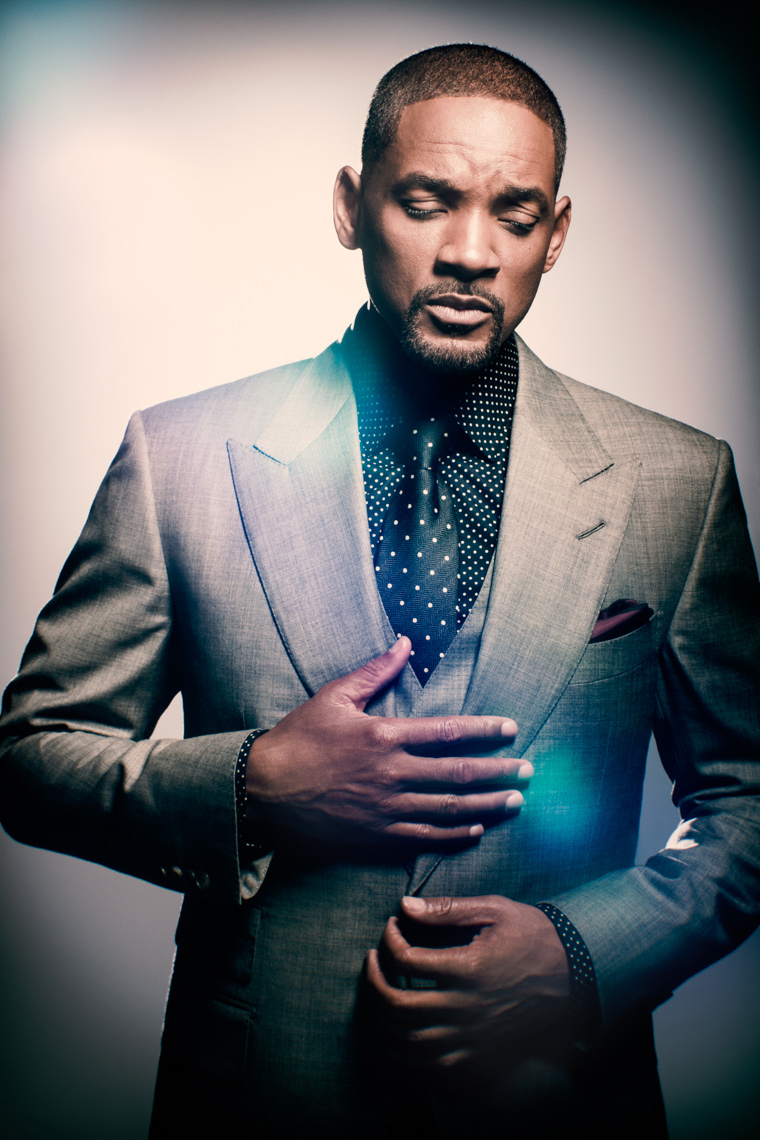 Will Smith Portrait by commercial celebrity photographer Michael Grecco