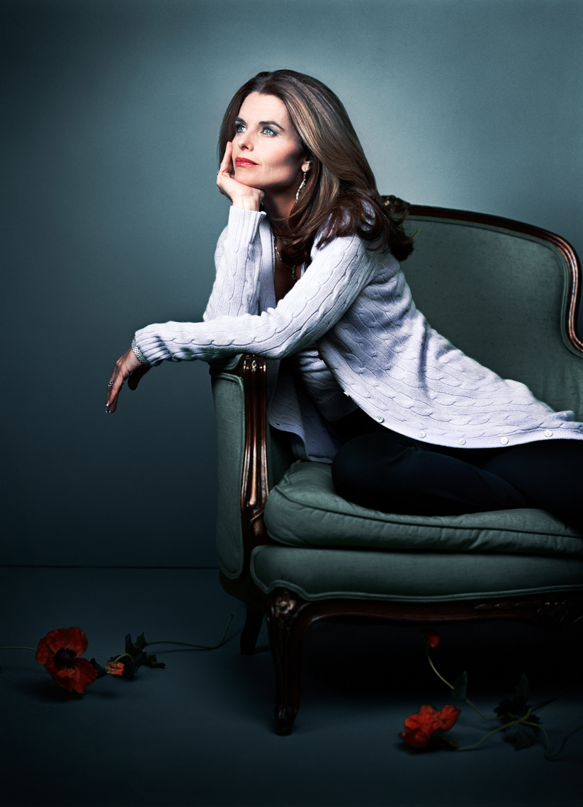 Maria Shriver Portrait by commercial celebrity photographer Michael Grecco