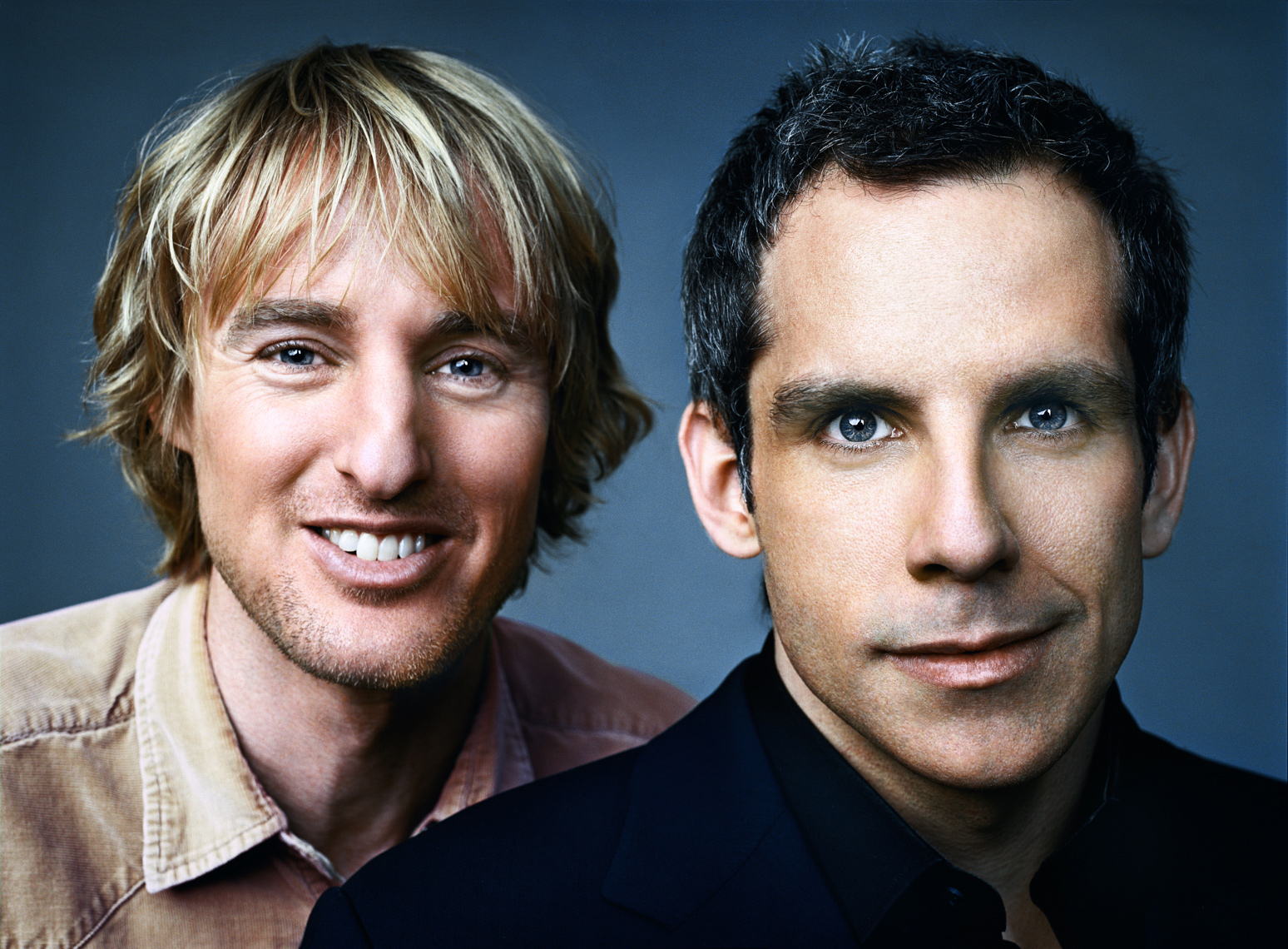 Owen Wilson Ben Stiller Portrait by commercial celebrity photographer Michael Grecco