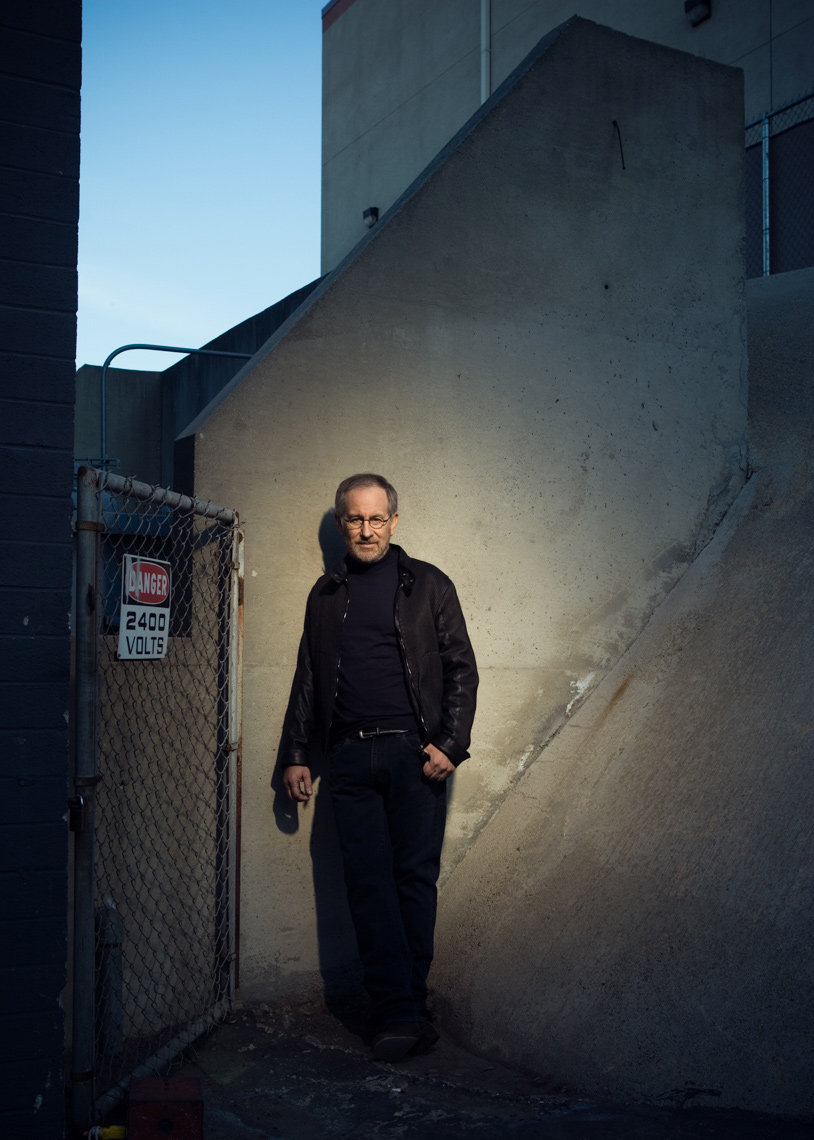 Steven Spielberg Portrait by commercial celebrity photographer Michael Grecco
