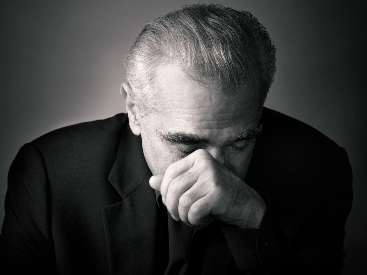 Martin Scorsese Portrait by commercial celebrity entertainment photographer Michael Grecco