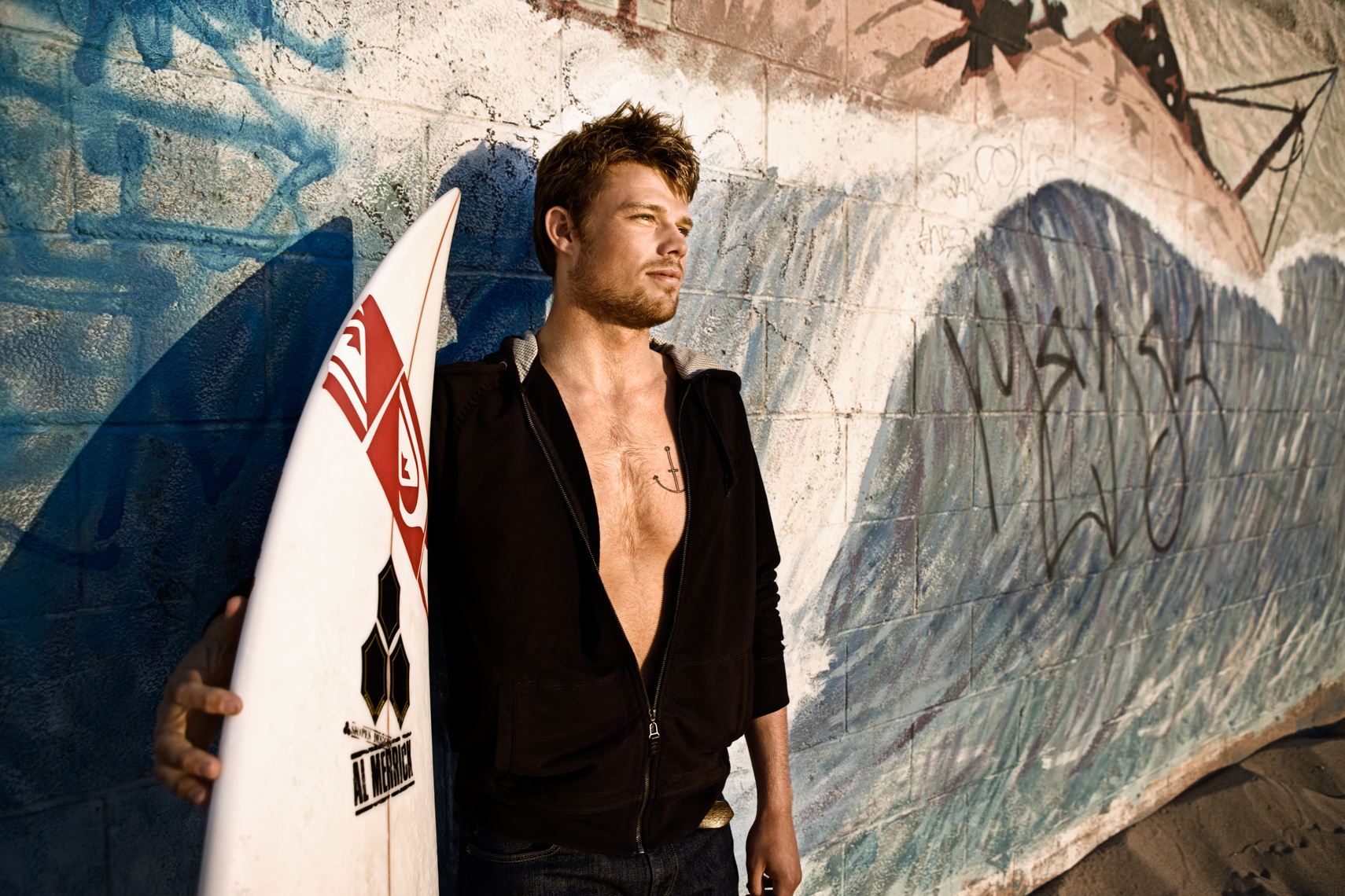 Surfer Dane Reynolds Portrait by commercial celebrity advertising photographer Michael Grecco